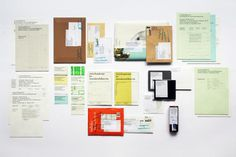 Agentur-CD Recycling Misprints, proofs, incoming envelopes, letters, ice packaging http://www.n-t-k.de/print_web/recyclingdesign/