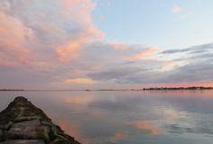 Sunset at Westport's Compo Beach.