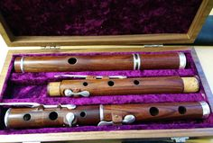 6-key concert flute, Mopane wood made by Francois Baubet