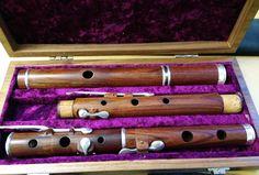 6-key concert flute, Mopane wood made by Francois Baubet