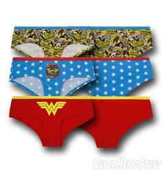 Wonder Woman Juniors Hipster 3 Pack Briefs