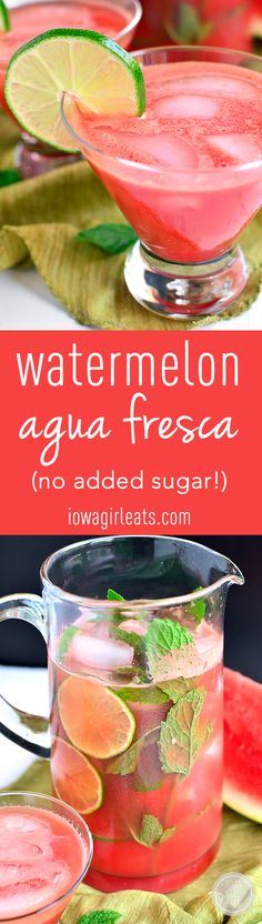 Watermelon Agua Fresca is a refreshing sipper for summer's hottest days. Just 4 ingredients with no added sugar!