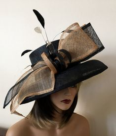 Kentucky Derby hat. Royal ascot hat. Derby hat. Black hat. Formal hat for races, Royal Ascot, weddings ...