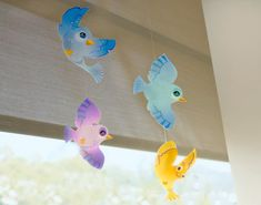 Bird Mobile (Printable Activity for Kids | Spring Coloring Pages & Printables | FamilyFun