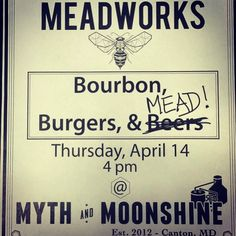 Only a couple days until our tap takeover at @mythandmoonshine. Try our new seasonal Mango Comapeno and meet the Meadworks crew! by charmcitymead