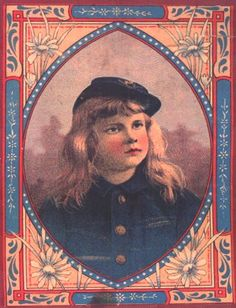 Antique Trunk, Young Girl In Uniform Artwork