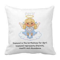 April Birthstone Angel Blonde Throw Pillow  http://www.zazzle.com/april_birthstone_angel_blonde_throw_pillow-189125426212687558?rf=238631258595245556