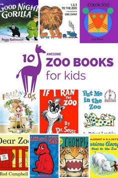 books about zoos are perfect for young children to read before or after visits to the zoo compiled by Mommy University at Preschool Zoo Theme, Preschool Books, Preschool Activities, Zoo Crafts, Animal Crafts, Toddler Books, Childrens Books, Zoo Book, Dear Zoo