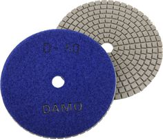 """5"""" DAMO Premium Dry Diamond Polishing Pad Grit 50 for Granite / Marble / Concrete. (1)Ware an apron, a gauze mask and safety glasses first. Connect a Back Holder to the Polisher or Angle Grinder, and attach a Dry Pad of grit 50 to the Back Holder. Set the speed at 3,000-4,000RPM and start polishing process. (2)Moving two passes across and one pass up and down is a good technique. Make sure all prior scratches are removed before moving onto the next grit.Repeat the same process using all 7..."""