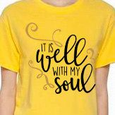 It Is Well With My Soul   Plain or Glitter Vinyl  by BlingByBates