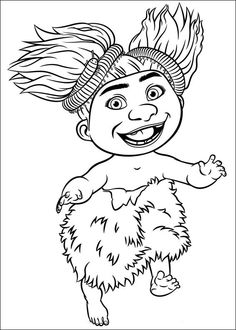 Dibujos para Colorear. Dibujos para Pintar. Dibujos para imprimir y colorear online. Los Croods 5