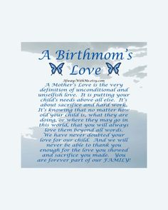 Adoption Art Print for Birth Mother 8x10 by AlwaysWithMe on Etsy, $11.00