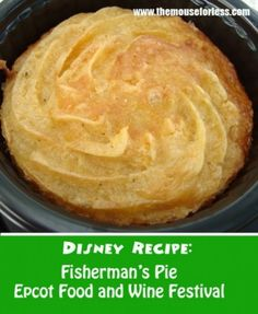 The recipe for the Lobster and Scallop Fisherman's Pie found at the Ireland Marketplace Booth at the Epcot Food and Wine Festival