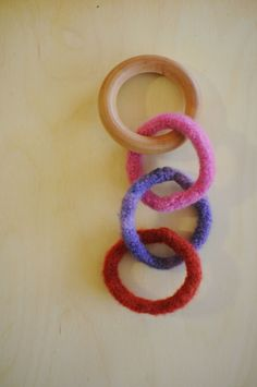Baby Teether Toy Waldorf and Montessori Inspired Rattle. $12.00, via Etsy.