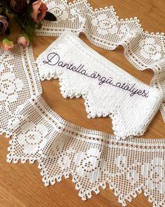 Crochet Patterns Filet, Filet Crochet, Rose Embroidery, Silk Ribbon Embroidery, Love Crochet, Crochet Flowers, Small Girls Bedrooms, Crochet Projects, Sewing Projects