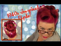 1940s Inspired Updo with Lots of Victory Rolls-A Vintage Hair Tutorial