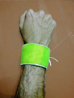 Tennis Bracelet from an old tennis ball!