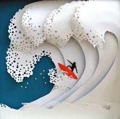 Beautiful cut paper artworks of nature by Marina Adamova. #papercraft #art