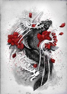 Black Koi by Marine Loup | Displate