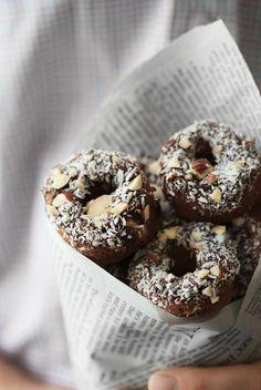 gastrogirl:    cinnamon roll almond flour doughnuts.