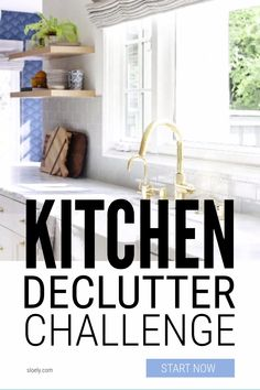 Start this kitchen declutter challenge now and clear huge amounts of unused, unloved stuff you're storing easily in 10 minutes daily without making a big mess so you can finally get organized. #declutterkitchen #declutterchallenge #declutterkitchenchecklist #declutterkitchenchallenge Kitchen Counter Cabinet, Kitchen Cabinets And Countertops, Fire Food, Konmari Method, Red Kitchen, Minimalist Kitchen, Organizing Your Home, Getting Organized, Declutter