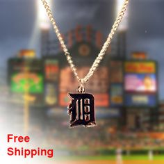 Detroit Tigers Necklace - Show off your teams colors! Cutest Detroit Tigers Necklace on the Planet! Don't miss our Special Sales Event. Many teams available. www.DilyDalee.co