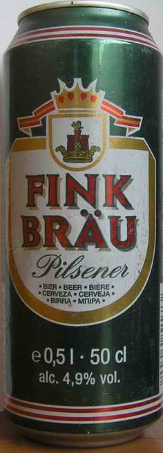Fink Brau German beer www. Beer Brands, German Beer, Beer Garden, Craft Beer, Rum, Alcoholic Drinks, Canning, Munich, Bottles