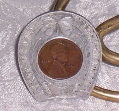 1945 Wheat Penny Encased Penny Vintage Souvenir by SierrasTreasure