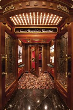 This Home Theater entrance is spectacular! #hometheater #dannyveghs