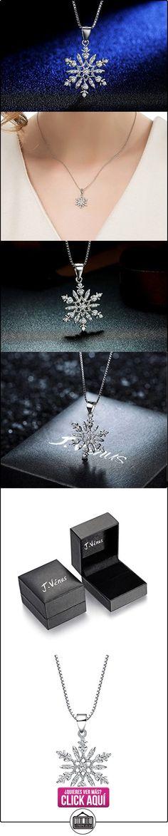 J.venus Collares de mujer, collar colgante de copo de nieve de plata esterlina para mujeres, 45cm, regalo ideal el día de San Valentín, cumpleaños  ✿ Joyas para mujer - Las mejores ofertas ✿ ▬► Ver oferta: https://comprar.io/goto/B01MS2UMPU
