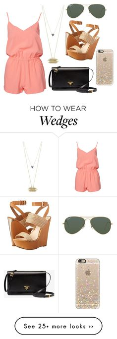 """A wedge between Prada and Ray Ban"" by josieelese on Polyvore"