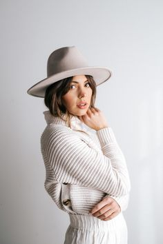 dabd467ebb Gigi Pip Wes Ivory fedora hat Winter Wardrobe Essentials