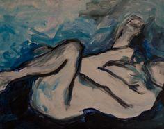 'blue03' 400mm x 500mm acrylic on canvas $250