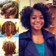 Flat Twist then Bandu Knot-Twist , leave in for 7-8 hours , & there are the results :) #NaturalHair #CurlyHair #Twist