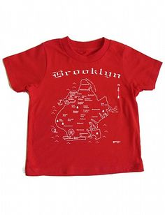 Maptote - Brooklyn toddler tee in red
