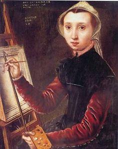 Caterina van Hemessen self-portrait (1548)