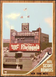 Scoreboard at Polo Grounds New York Mets Baseball, Baseball Park, Ny Mets, Sports Stadium, Stadium Tour, Yankee Stadium, Baseball Scoreboard, Polo Grounds, Mlb Stadiums
