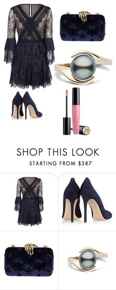 """🎈"" by christine-at ❤ liked on Polyvore featuring self-portrait, Gianvito Rossi, Benedetta Bruzziches and Lancôme"