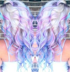 37 Yummy & About Trending Cotton Candy Hair Color Ideas – Highpe - Hair Trends Hair Color Blue, Blonde Color, Cool Hair Color, Purple Hair, Ombre Hair, Hair Colors, Pastel Blonde, Blonde Hair With Color, Exotic Hair Color
