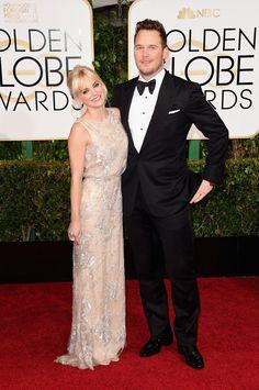 "Anna Faris And Chris Pratt Win ""Cutest Couple"" At Tonight's Golden Globes"
