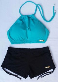 Conjunto Biquíni Top Cropped Estampado E Sunkini - R$ 134,99 em Mercado Livre Bathing Suits For Teens, Summer Bathing Suits, Cute Bathing Suits, Sport Outfits, Summer Outfits, Girl Outfits, Fashion Outfits, Bikini Outfits, Crop Top Outfits