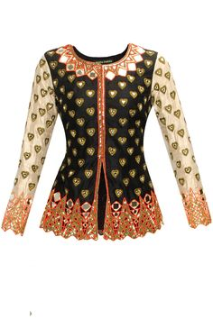 Black and beige heart motifs jacket available only at Pernia's Pop-Up Shop.