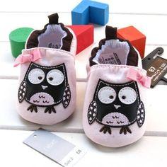 Adorable Baby Girls Owl, Ladybug or Mushroom Shoes