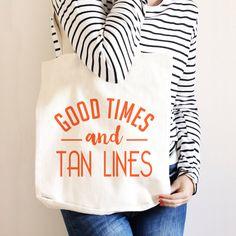 Beach Tote - Summer Travel Bag - Canvas Beach Tote Bag -