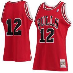 378d1ef09 Men s Chicago Bulls Michael Jordan Mitchell   Ness Red Hardwood Classics   12 Authentic Jersey