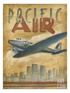 Pacific Air Premium Giclee Print by Ethan Harper at Art.com