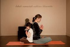 Mom daughter yoga sequence   ..have been looking for an easier but fun sequence for my younger daughter, she gets so frustrated & this is a perfect way to start a lil one out in yoga..