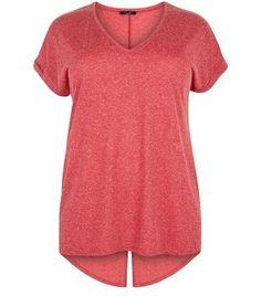 Curves Red Back Split T-shirt