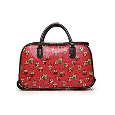New Trending Luggage: LeahWard Womens Girls Holdall Faux Leather Luggage Bag Hand Baggage Travel Suitcase Holiday Bags CWL001 (L FUCHSIA OWL). LeahWard Women's Girl's Holdall Faux Leather Luggage Bag Hand Baggage Travel Suitcase Holiday Bags CWL001 (L FUCHSIA OWL)   Special Offer: $41.99      122 Reviews LeahWard Bags LeahWard is our registered trade mark, we are base in Manchester, UK. Our products include handbags,...
