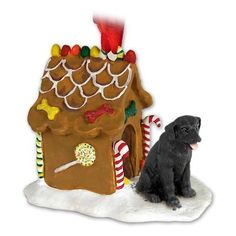 Black Lab Labrador Retriever Gingerbread House Christmas Ornament * Want to know more, click on the image.